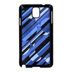 Blue pattern Samsung Galaxy Note 3 Neo Hardshell Case (Black)