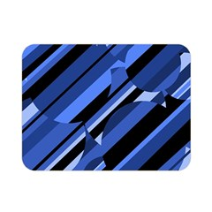 Blue pattern Double Sided Flano Blanket (Mini)