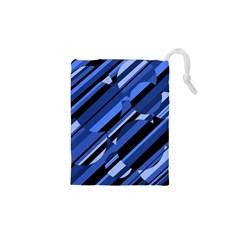 Blue pattern Drawstring Pouches (XS)