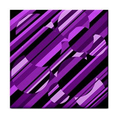 Purple Pattern Tile Coasters