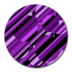 Purple pattern Round Mousepads