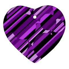 Purple pattern Ornament (Heart)