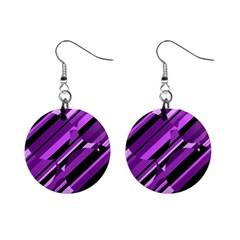 Purple pattern Mini Button Earrings