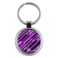 Purple pattern Key Chains (Round)