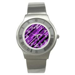 Purple pattern Stainless Steel Watch