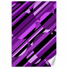 Purple pattern Canvas 12  x 18