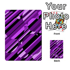 Purple pattern Multi-purpose Cards (Rectangle)