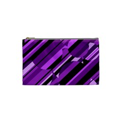 Purple pattern Cosmetic Bag (Small)