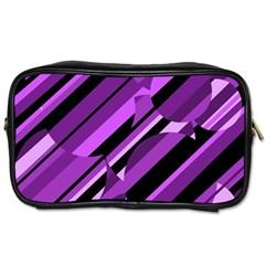 Purple pattern Toiletries Bags 2-Side