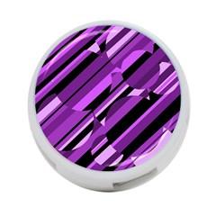 Purple pattern 4-Port USB Hub (Two Sides)