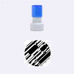 Purple pattern Rubber Round Stamps (Small)