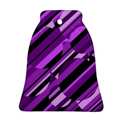 Purple pattern Bell Ornament (2 Sides)