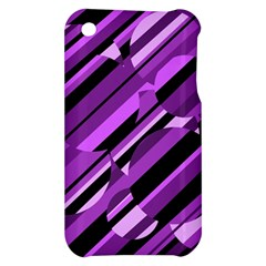 Purple pattern Apple iPhone 3G/3GS Hardshell Case