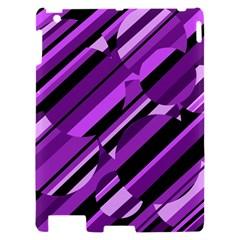 Purple pattern Apple iPad 2 Hardshell Case