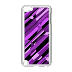 Purple pattern Apple iPod Touch 5 Case (White)