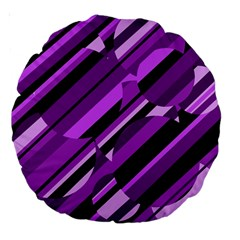 Purple pattern Large 18  Premium Round Cushions