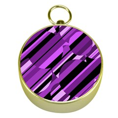 Purple pattern Gold Compasses