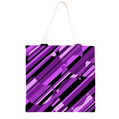 Purple pattern Grocery Light Tote Bag