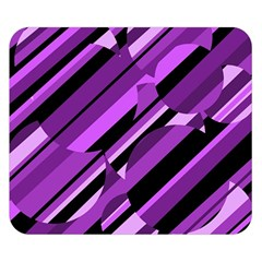 Purple pattern Double Sided Flano Blanket (Small)