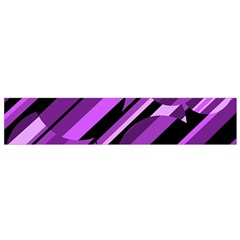 Purple pattern Flano Scarf (Small)
