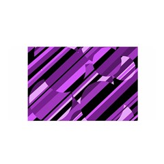 Purple pattern Satin Wrap