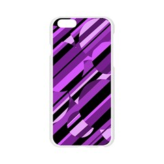 Purple pattern Apple Seamless iPhone 6/6S Case (Transparent)