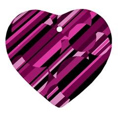 Magenta pattern Ornament (Heart)