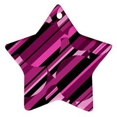 Magenta pattern Ornament (Star)