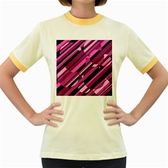 Magenta pattern Women s Fitted Ringer T-Shirts