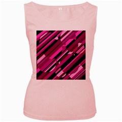 Magenta pattern Women s Pink Tank Top