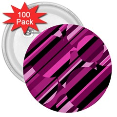 Magenta pattern 3  Buttons (100 pack)