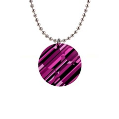 Magenta pattern Button Necklaces