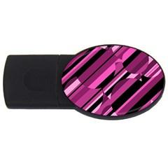 Magenta pattern USB Flash Drive Oval (4 GB)