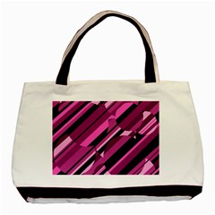 Magenta pattern Basic Tote Bag