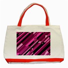 Magenta pattern Classic Tote Bag (Red)