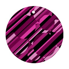 Magenta pattern Round Ornament (Two Sides)