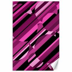 Magenta pattern Canvas 24  x 36