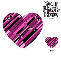 Magenta pattern Playing Cards 54 (Heart)