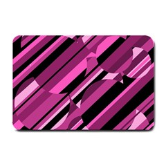Magenta pattern Small Doormat