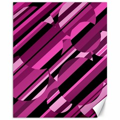 Magenta pattern Canvas 11  x 14