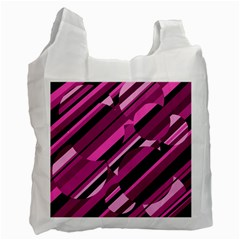 Magenta pattern Recycle Bag (Two Side)