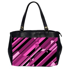 Magenta pattern Office Handbags (2 Sides)