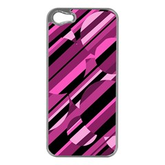 Magenta pattern Apple iPhone 5 Case (Silver)
