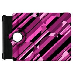 Magenta pattern Kindle Fire HD Flip 360 Case