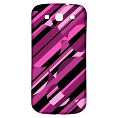 Magenta pattern Samsung Galaxy S3 S III Classic Hardshell Back Case