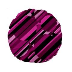 Magenta pattern Standard 15  Premium Round Cushions