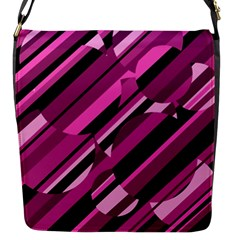 Magenta pattern Flap Messenger Bag (S)
