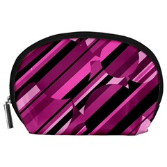 Magenta pattern Accessory Pouches (Large)