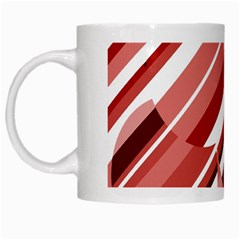 Orange Pattern White Mugs