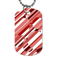 Orange pattern Dog Tag (One Side)
